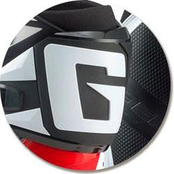 """Le logo """"G"""" de la botte SG-12 Gaerne, un plus qui en jette"""